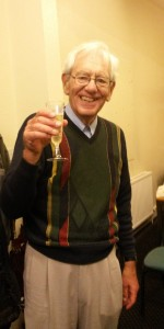 David with champagne